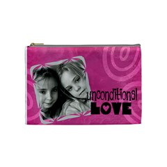 Unconditional Love   Cosmetic Bag (medium)   By Carmensita   Cosmetic Bag (medium)   Wonve4hrl5iy   Www Artscow Com Front