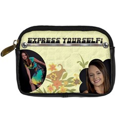 Express Yourself Camera Case By Lil    Digital Camera Leather Case   Zn68d1djkbdq   Www Artscow Com Front