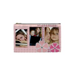 Pink Bag By Wood Johnson   Cosmetic Bag (small)   2jd9jm0rr3dr   Www Artscow Com Front