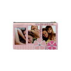 Pink Bag By Wood Johnson   Cosmetic Bag (small)   2jd9jm0rr3dr   Www Artscow Com Back