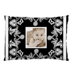 Art Nouveau Black & White Pillow case