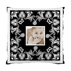 Art Nouveau Black & White Cushion By Catvinnat   Standard Cushion Case (two Sides)   S5sozuycsz4h   Www Artscow Com Front