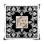 Art Nouveau Black & White cushion - Cushion Case (Two Sides)