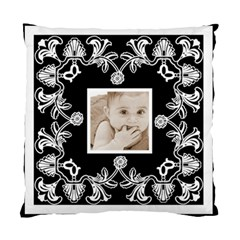 Art Nouveau Black & White Cushion By Catvinnat   Standard Cushion Case (two Sides)   S5sozuycsz4h   Www Artscow Com Back