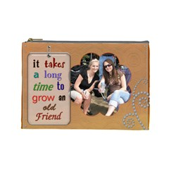 Old Friend Large Cosmetic Bag By Lil    Cosmetic Bag (large)   Kou9kkimpvs3   Www Artscow Com Front