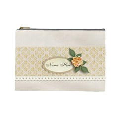 Elegant Cosmetic Case Large   Template By Jennyl   Cosmetic Bag (large)   Id2hj797mq9x   Www Artscow Com Front