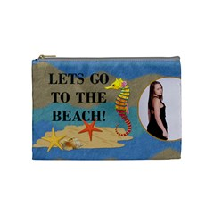 Beach Medium Cosmetic Bag By Lil    Cosmetic Bag (medium)   Dyshun1qlvsj   Www Artscow Com Front