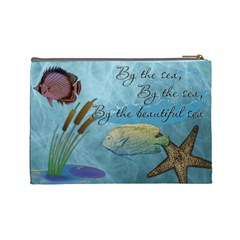 Tropical Large Cosmetic Bag By Lil    Cosmetic Bag (large)   A0f28r1h1e8q   Www Artscow Com Back
