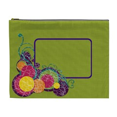 Green & Circles Xl Cosmetic Bag By Klh   Cosmetic Bag (xl)   Azakzvkk9vrj   Www Artscow Com Front
