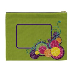 Green & Circles Xl Cosmetic Bag By Klh   Cosmetic Bag (xl)   Azakzvkk9vrj   Www Artscow Com Back