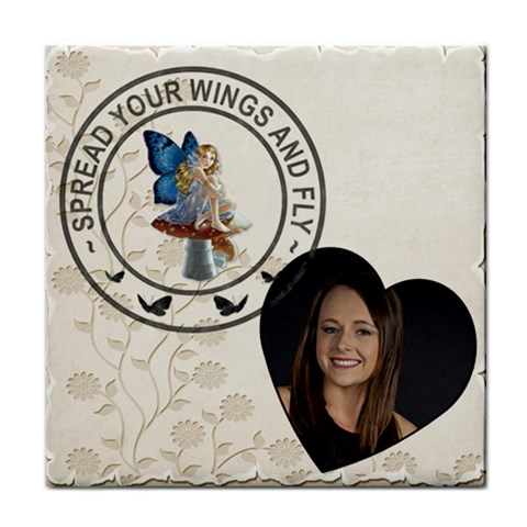 Spread Your Wings Coaster By Lil    Tile Coaster   M6n5h3yjkmfo   Www Artscow Com Front