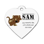 Dog Tag Sample #2 - Dog Tag Heart (Two Sides)