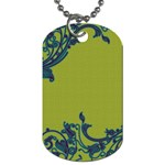 Green with Blue Swirls Dog Tag - Dog Tag (Two Sides)