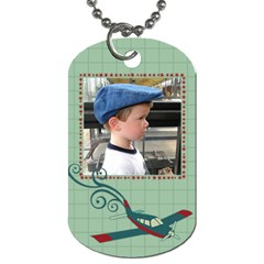 Airplane Dog Tags By Klh   Dog Tag (two Sides)   4vr6ryass6n9   Www Artscow Com Front