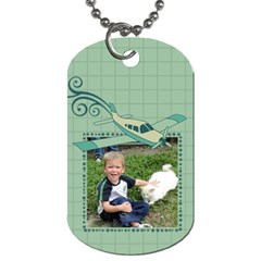Airplane Dog Tags By Klh   Dog Tag (two Sides)   4vr6ryass6n9   Www Artscow Com Back
