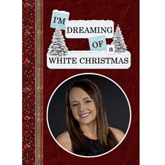 White Christmas  Card by Lil Front Cover