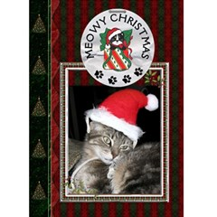 Meowy Christmas Card By Lil    Greeting Card 5  X 7    22gq9pfmkz3m   Www Artscow Com Front Cover