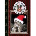 Meowy Christmas Card - Greeting Card 5  x 7