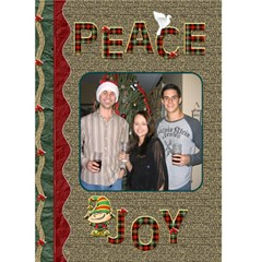 Peace And Joy Christmas Card By Lil    Greeting Card 5  X 7    K9ksb6pzpklx   Www Artscow Com Front Cover