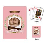 pink Playing card - Playing Cards Single Design