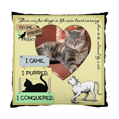 Feline Friends Pillow By Lil    Standard Cushion Case (one Side)   Kulxh98ji3q9   Www Artscow Com Front