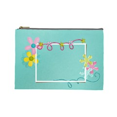 Flowers  Case  Large  Template By Jennyl   Cosmetic Bag (large)   J2sfe8synio8   Www Artscow Com Front