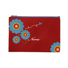 Cosmetic Case  Large  Template By Jennyl   Cosmetic Bag (large)   Sn3ae0rd1g56   Www Artscow Com Front