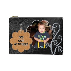 attitude  Large Cosmetic Case By Lil    Cosmetic Bag (large)   Avc2egbf3ynx   Www Artscow Com Front