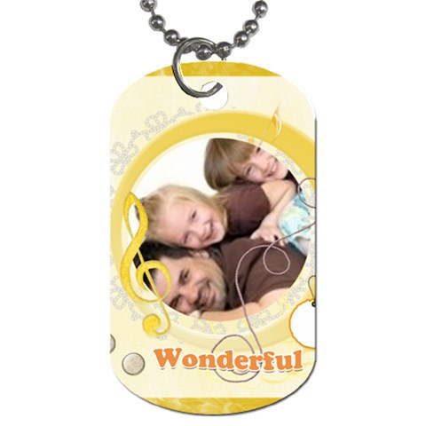 Wonderful Day By Joely   Dog Tag (one Side)   Rffjkapjaxq5   Www Artscow Com Front