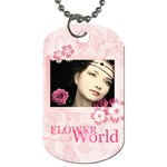 flower world - Dog Tag (One Side)