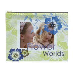 Flower World By Joely   Cosmetic Bag (xl)   Eta3k7srgdbt   Www Artscow Com Front