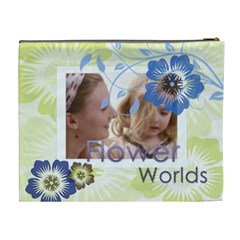 Flower World By Joely   Cosmetic Bag (xl)   Eta3k7srgdbt   Www Artscow Com Back