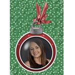 Christmas Ornament Card - Greeting Card 5  x 7