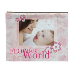 Flower World By Joely   Cosmetic Bag (xl)   Bpt0q1qg3ztg   Www Artscow Com Front