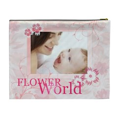 Flower World By Joely   Cosmetic Bag (xl)   Bpt0q1qg3ztg   Www Artscow Com Back