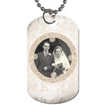 Art Nouveau Antique lace dog tag - Dog Tag (Two Sides)