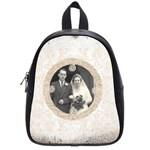 art nouveau antique lace small back pack school bag - School Bag (Small)