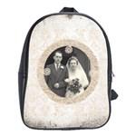art nouveau antique lace large back pack school bag - School Bag (Large)