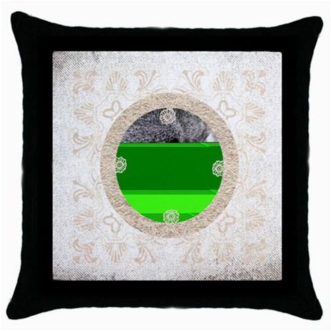 Art Nouveau Antique Lace Cushion Pillow By Catvinnat   Throw Pillow Case (black)   Rivbn7davluh   Www Artscow Com Front