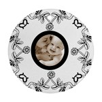 Baby love black & white round ornament - Round Ornament (Two Sides)