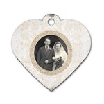 art nouveau antique lace heart dogtag - Dog Tag Heart (Two Sides)