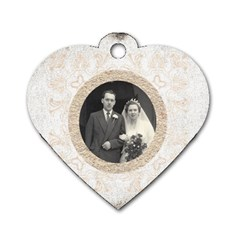 Art Nouveau Antique Lace Heart Dogtag By Catvinnat   Dog Tag Heart (two Sides)   8ao889mn51yb   Www Artscow Com Back