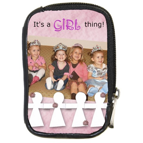 It s A Girl Thing By Amanda Bunn   Compact Camera Leather Case   0q73dtgfrypm   Www Artscow Com Front