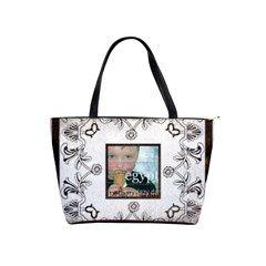 Art Nouveau Brown & White Shoulder Bag By Catvinnat   Classic Shoulder Handbag   Uczlamxbteeq   Www Artscow Com Front