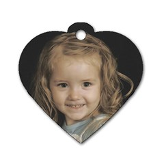 Backpack Tag By Amanda Bunn   Dog Tag Heart (two Sides)   U2htkazozps6   Www Artscow Com Front