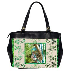 Art Nouveau Greensleves Oversized Office Bag By Catvinnat   Oversize Office Handbag (2 Sides)   Qgroj9iq6qa4   Www Artscow Com Back