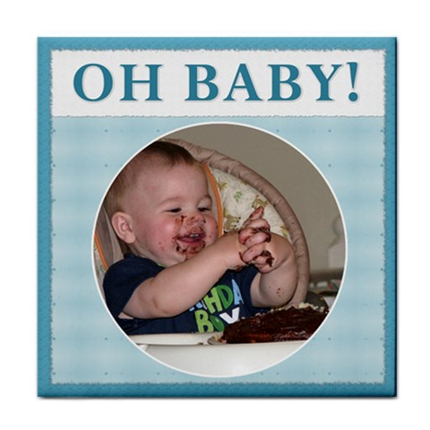 oh Baby!  Boy Coaster By Lil    Tile Coaster   Kllus1qg2l94   Www Artscow Com Front