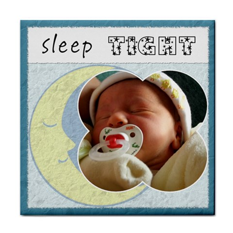 sleep Tight  Boy Coaster By Lil    Tile Coaster   Wmf2wex2l7oz   Www Artscow Com Front