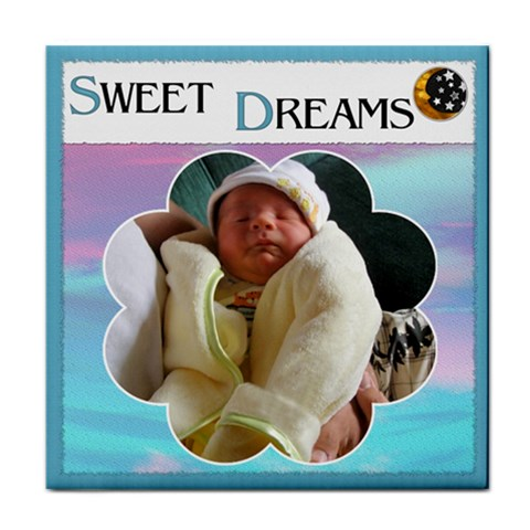 sweet Dreams  Boy Coaster By Lil    Tile Coaster   Sdwidkjcxmtu   Www Artscow Com Front