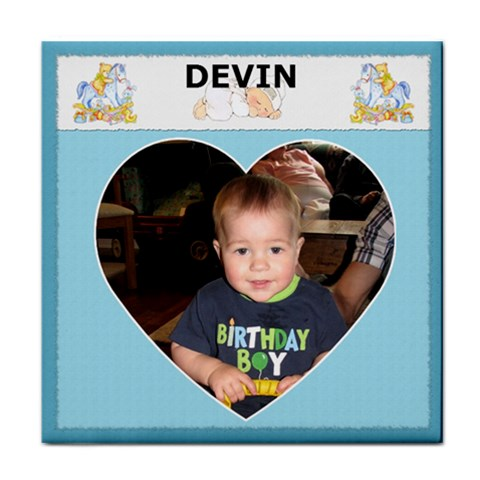 custom Name  Boy Coaster By Lil    Tile Coaster   Brmhk34bzr9h   Www Artscow Com Front